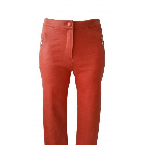 Pantalones elásticos efecto brillante