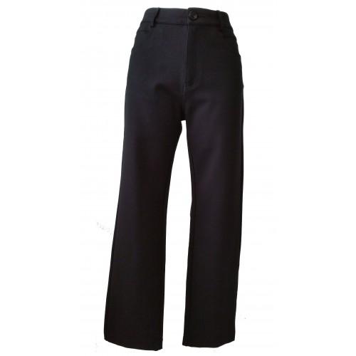 Pantalones elásticos con textura neopreno