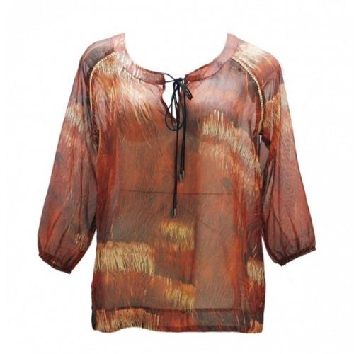 Camisa hippie con transparencias