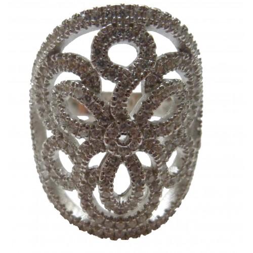 Anillo plata calado en forma de flor