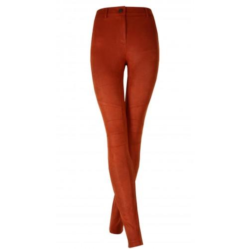 Pantalones en antelina elásticos moteros