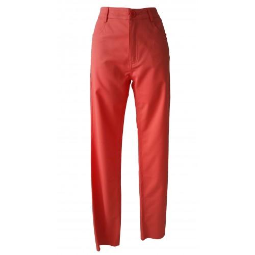 Pantalones finos elásticos con stras
