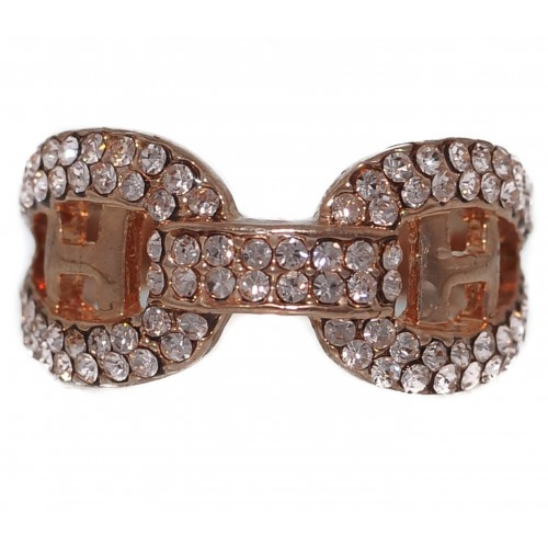 Costume Ring bow tie-shaped in gold metal
