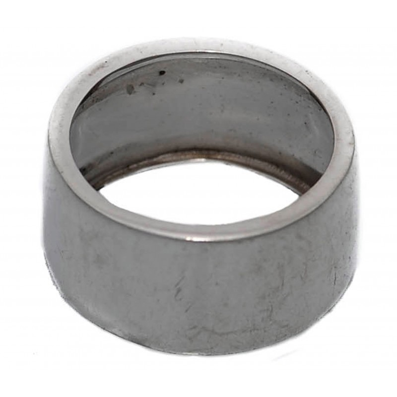 Ring in silver wide and plain