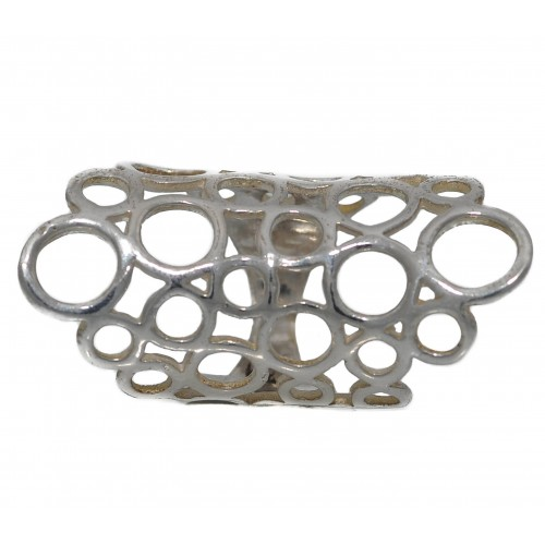 Ring elongated openwork in silver