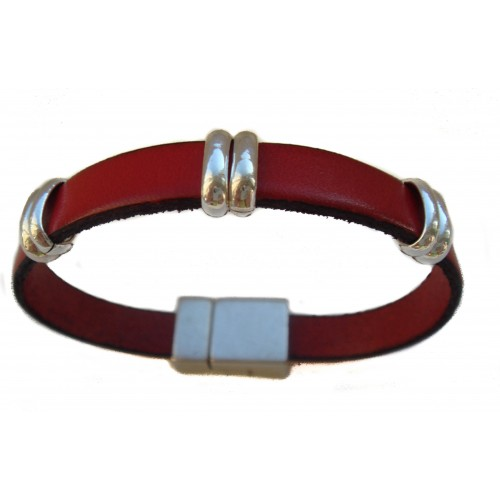 Bracelet in black unisex with elongated rings