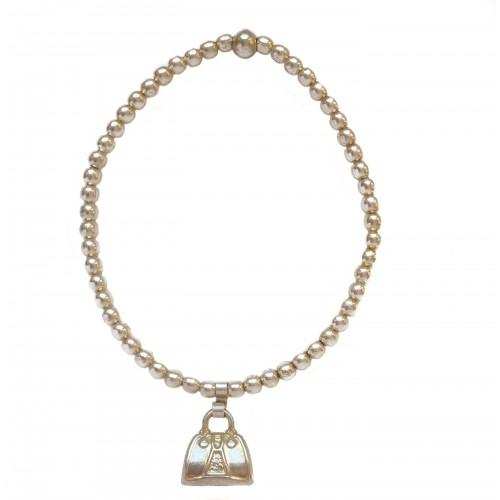 Charm silver purse pendant