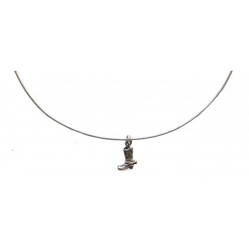 Silver Chain Rigid Choker