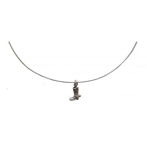 Silver Chain Rigid Choker