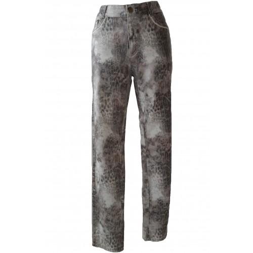 Pantalones elásticos de manchas en tonos grises