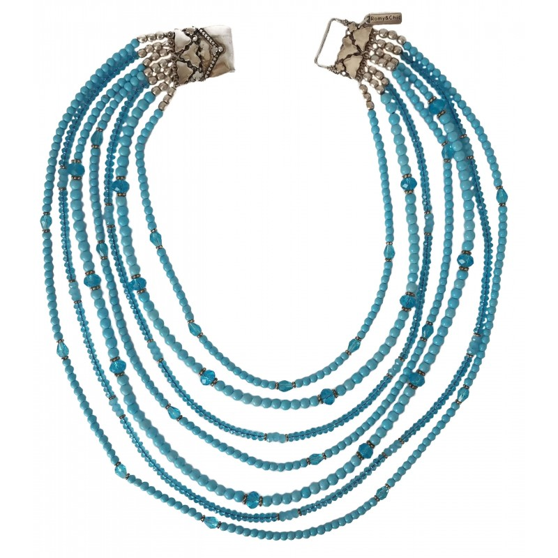 Necklace in turquoise 7 strips