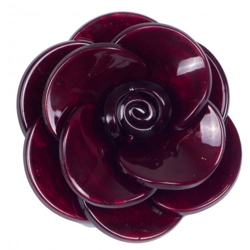 Brooch camellia resin flower