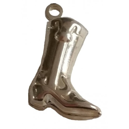 Charm silver pendant boot