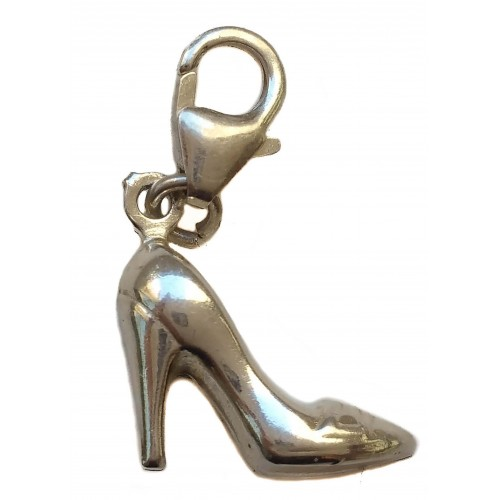 Charm silver Pendant shoe