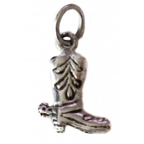 Silver charm shoe