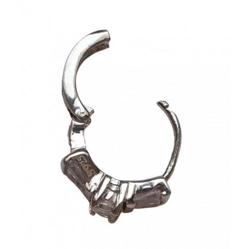 Charm aro de lata anillo pedida con circonitas