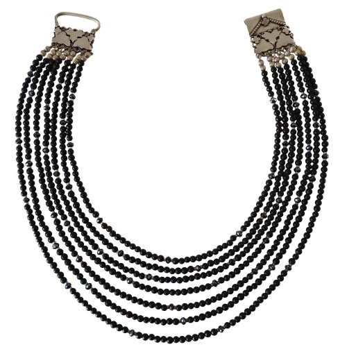 Onix Natural Stone Necklace with 7 strips